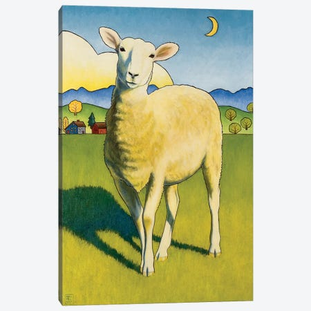 Who Are Ewe Canvas Print #SNM109} by Stacey Neumiller Art Print