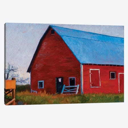 Bishop Barn Canvas Print #SNM10} by Stacey Neumiller Canvas Wall Art