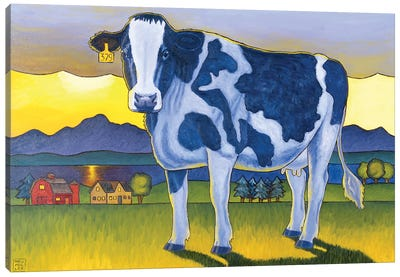 Bovine Whidbey Canvas Art Print