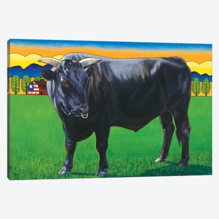 Bull Market Canvas Print #SNM14} by Stacey Neumiller Canvas Print