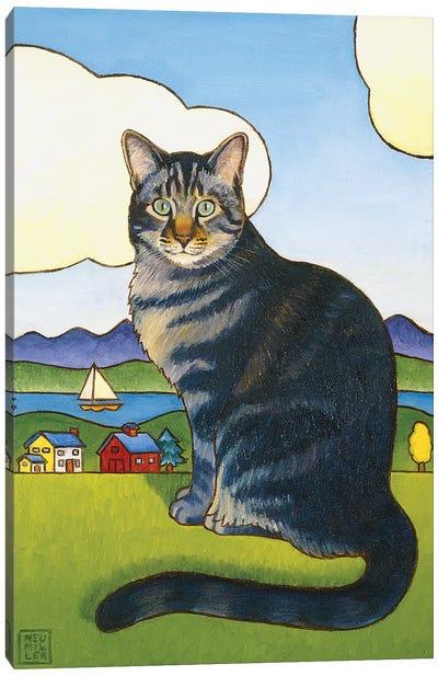 Coupeville Cat Canvas Art Print