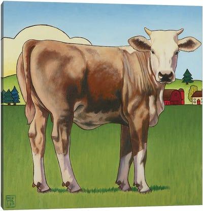 Cow Girl Canvas Art Print