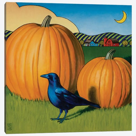 Crow's Harvest Canvas Print #SNM22} by Stacey Neumiller Art Print