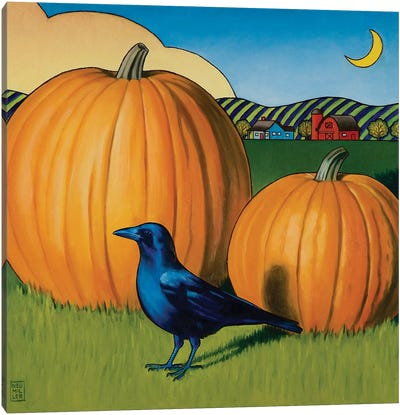 Crow's Harvest Canvas Art Print