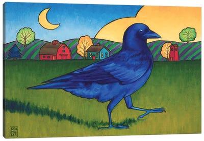 Crow's Run Canvas Art Print