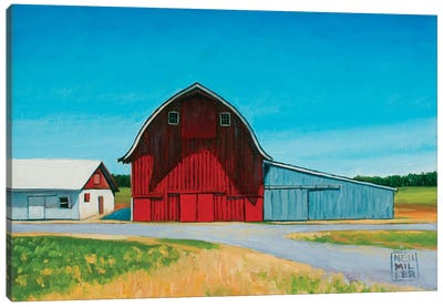 Across From The Drive-In Canvas Art Print