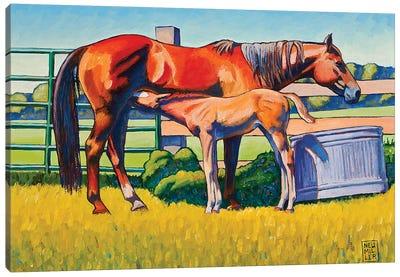 Farm Breakfast Canvas Art Print