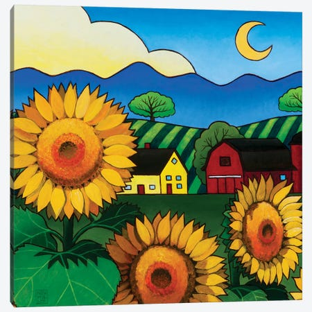 Fleur Du Soleil Canvas Print #SNM34} by Stacey Neumiller Canvas Art Print