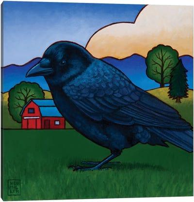 Ann's Crow Canvas Art Print