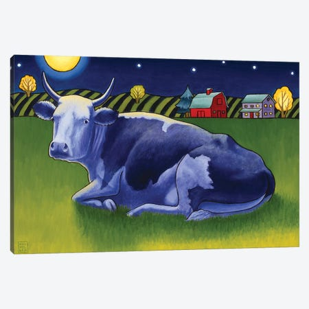Mooonlight Canvas Print #SNM58} by Stacey Neumiller Canvas Wall Art