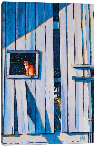 Barn Cat Canvas Art Print