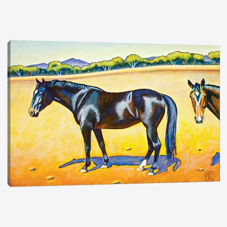 Pasture Pals II Canvas Print #SNM62} by Stacey Neumiller Art Print