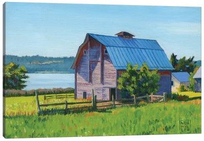 Penn Cove Barn Canvas Art Print
