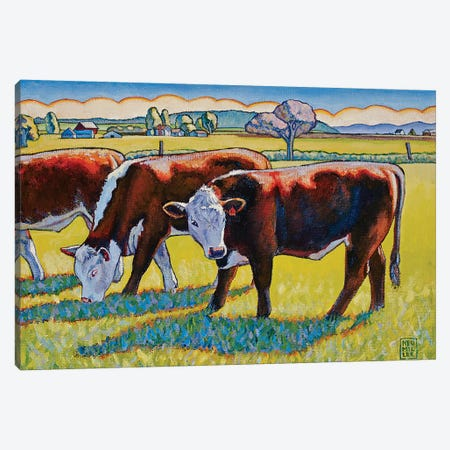 Prairie Lunch Canvas Print #SNM68} by Stacey Neumiller Art Print