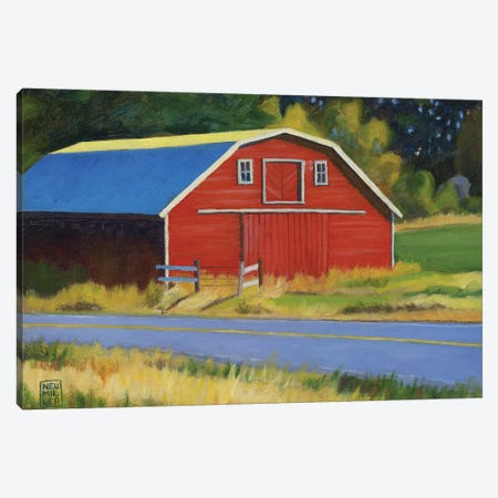 Sherman Squash Barn Canvas Print #SNM79} by Stacey Neumiller Canvas Art