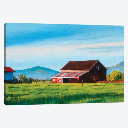 Skagit Valley Barn II Canvas Print #SNM83} by Stacey Neumiller Art Print