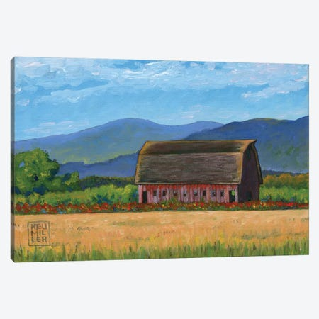 Skagit Valley Barn VII Canvas Print #SNM87} by Stacey Neumiller Canvas Art