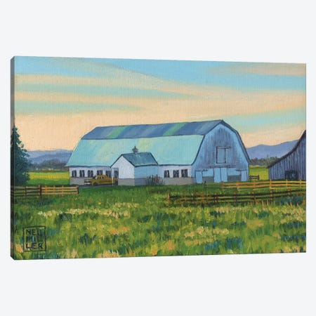 Skagit Valley Barn X Canvas Print #SNM88} by Stacey Neumiller Canvas Print