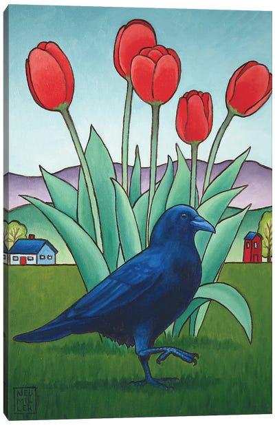 Tip-Toe Through The Tulips Canvas Art Print