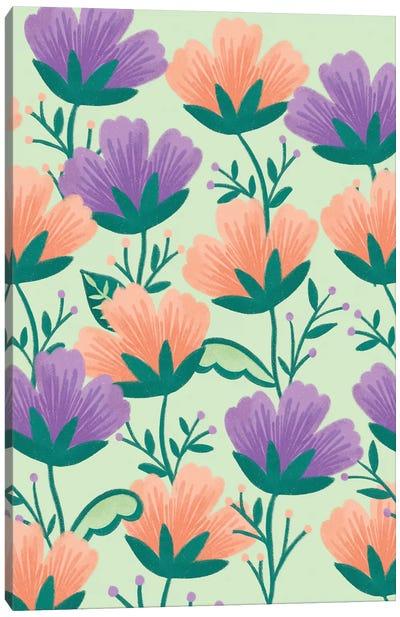 Butterfly Garden III Canvas Art Print