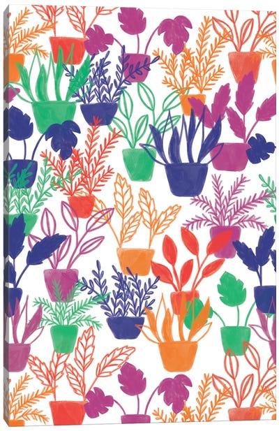 Abstract Flora III Canvas Art Print