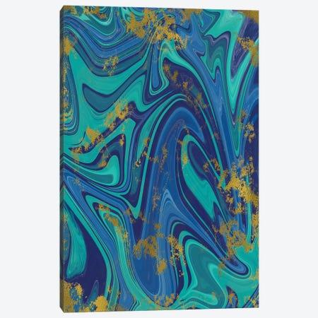 Gold Foil Blue Marble I Canvas Print #SNN1} by Taylor Shannon Canvas Art