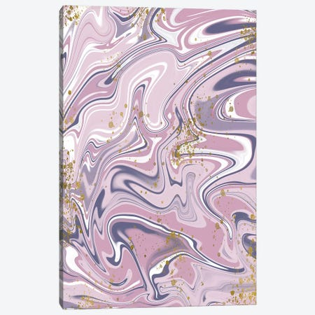 Gold Foil Purple Marble II Canvas Print #SNN2} by Taylor Shannon Canvas Wall Art