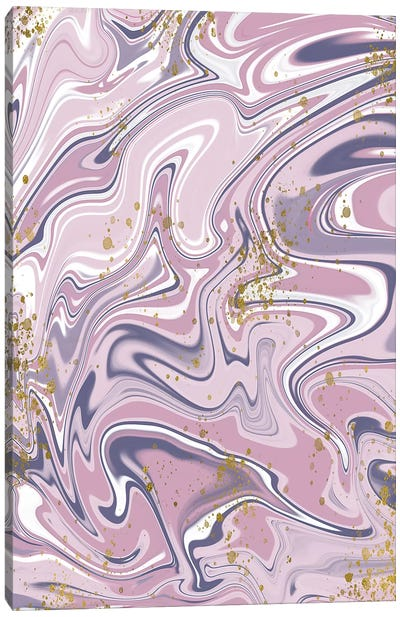 Gold Foil Purple Marble II Canvas Art Print
