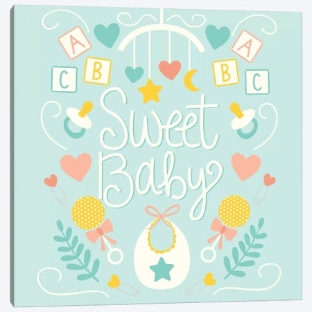 Sweet Baby Canvas Print #SNN3} by Taylor Shannon Canvas Artwork