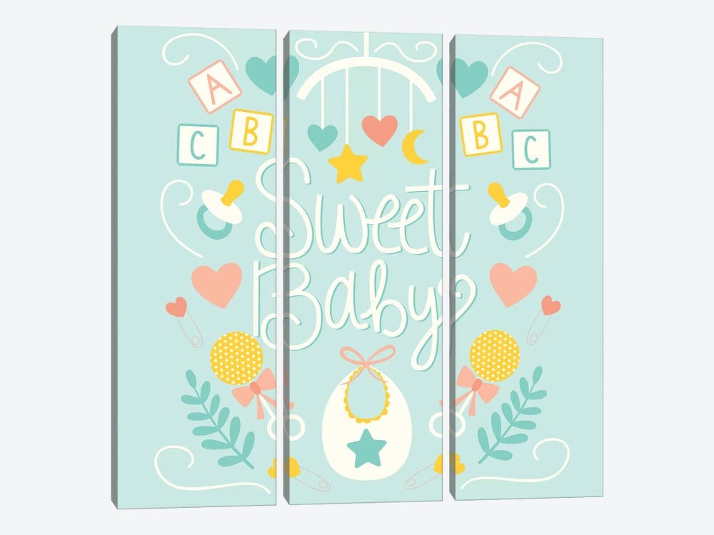 Sweet Baby by Taylor Shannon 3-piece Art Print