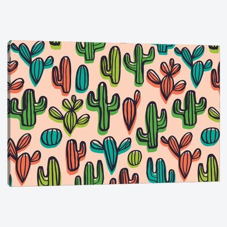 Cute Cacti I Canvas Print #SNN4} by Taylor Shannon Canvas Print