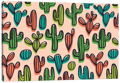 Cute Cacti I Canvas Art Print