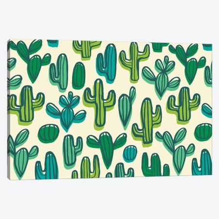 Cute Cacti II Canvas Print #SNN5} by Taylor Shannon Canvas Print