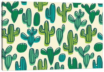 Cute Cacti II Canvas Art Print