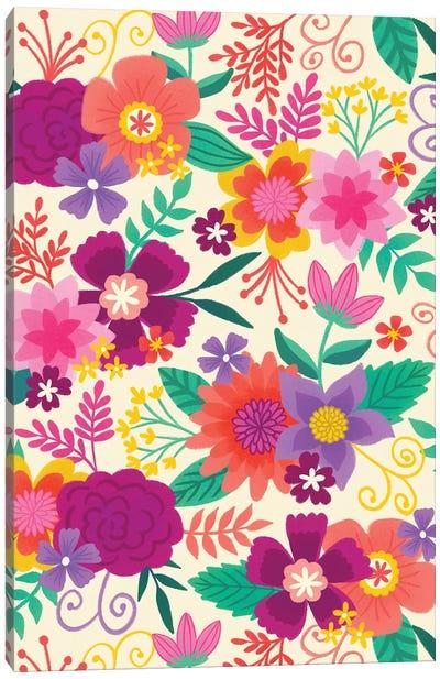 Joyful Blooms I Canvas Art Print