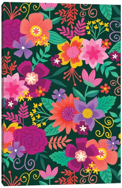 Joyful Blooms II Canvas Art Print