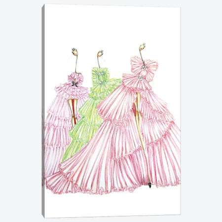 Giambattista Valli Multi 3-Piece Canvas #SNR13} by Sofie Nordstrøm Canvas Art Print