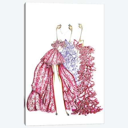 Giambattista Valli Pink Canvas Print #SNR14} by Sofie Nordstrøm Canvas Wall Art