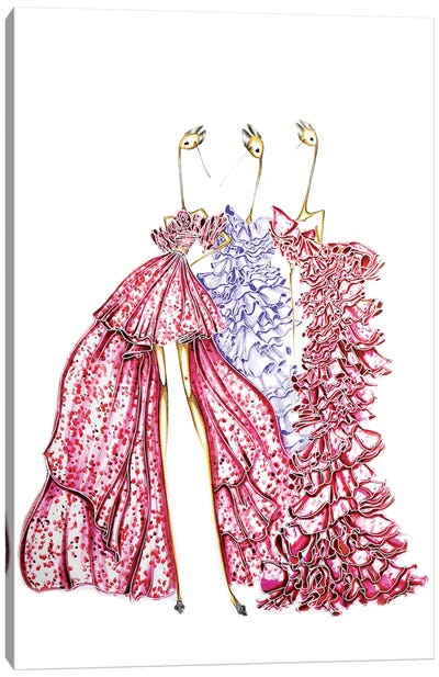 Giambattista Valli Pink Canvas Art Print