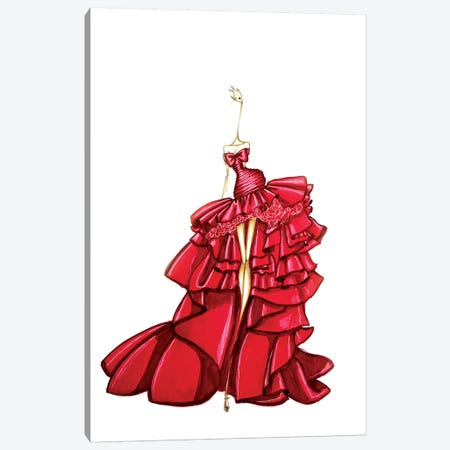 Giambattista Valli Red 3-Piece Canvas #SNR15} by Sofie Nordstrøm Canvas Art