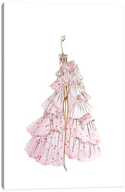 Giambattista Valli Rose Canvas Art Print