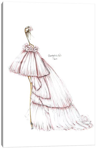 Giambattista Valli White Canvas Art Print
