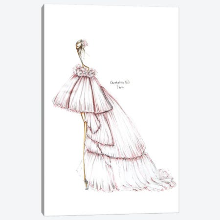 Giambattista Valli White Canvas Print #SNR17} by Sofie Nordstrøm Canvas Wall Art