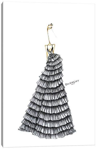 Givenchy Silver Canvas Art Print