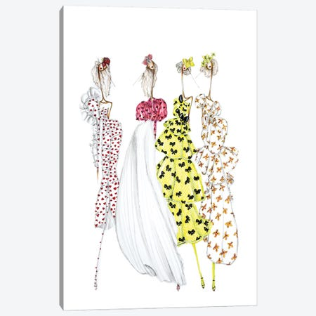 Rodarte Heart Canvas Print #SNR26} by Sofie Nordstrøm Canvas Print