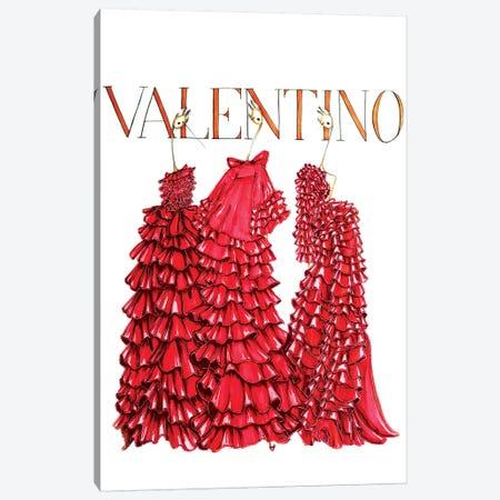 Valentino Cover Canvas Print #SNR28} by Sofie Nordstrøm Canvas Wall Art