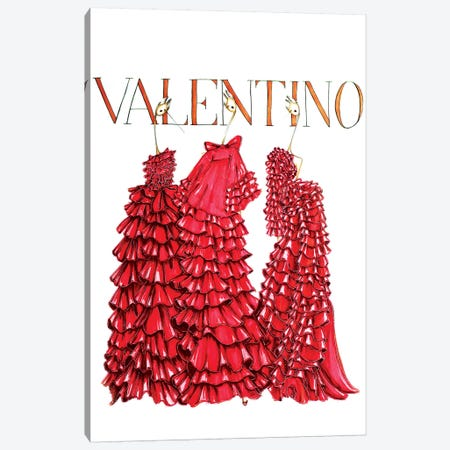 Valentino Cover 3-Piece Canvas #SNR28} by Sofie Nordstrøm Canvas Wall Art