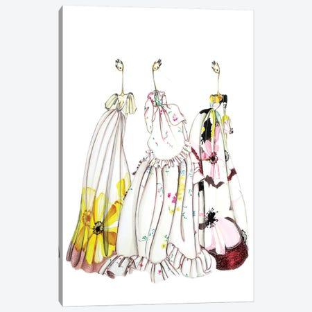 Valentino Flower 3-Piece Canvas #SNR30} by Sofie Nordstrøm Canvas Print