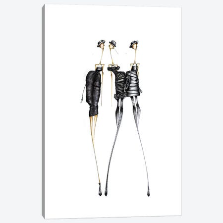 Chanel Black 3-Piece Canvas #SNR5} by Sofie Nordstrøm Canvas Art