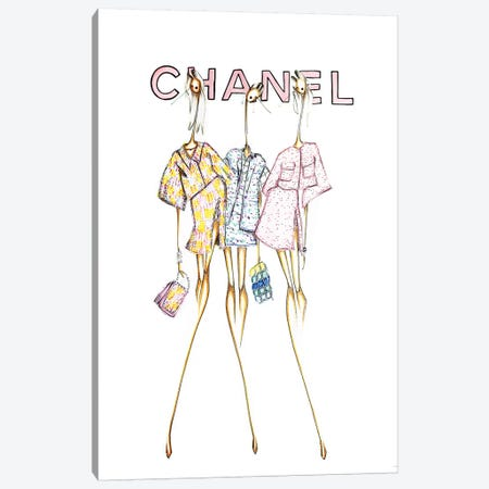 Chanel Cover Canvas Print #SNR7} by Sofie Nordstrøm Canvas Artwork